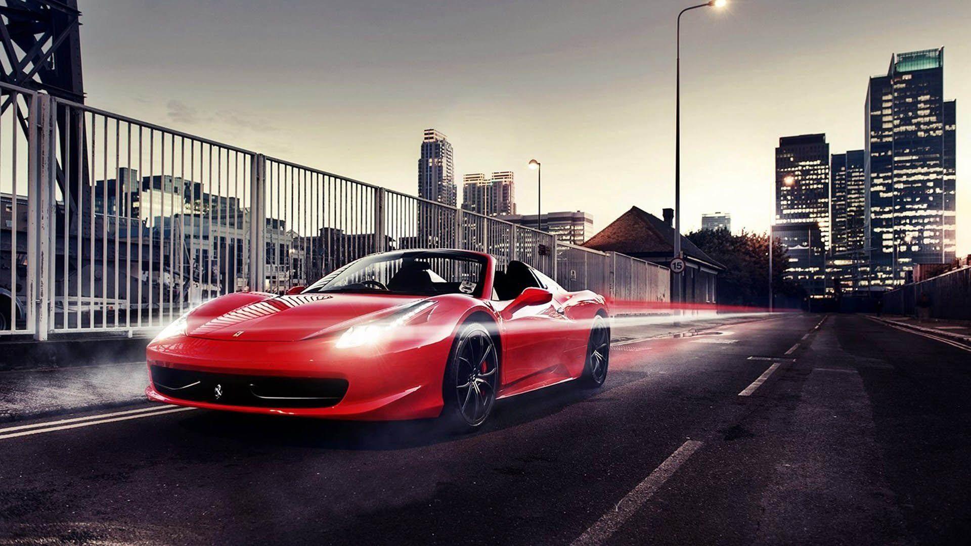 Ferrari 458 Spider Goes Fast In The City 1920x1080 Full Hd 16 9 Ferrari 458