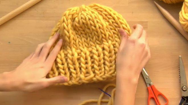 151310a4276b1 Como hacer un gorro de lana gruesa paso a paso
