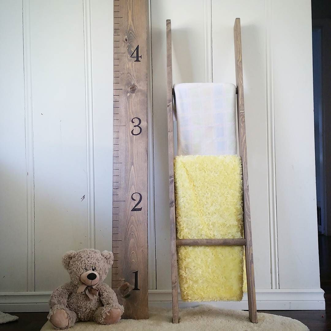 Check out this #growthchart and #blanketladder we have for sale right now! Only $55 for the set.. Reg. $80   #lilolemon #customwoodwork #woodwork #kids #home #handmade with #love de _lilolemon_