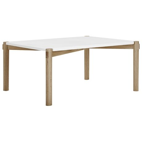 Holt Square Coffee Table Oak Frame With White Top From Freedom Furniture