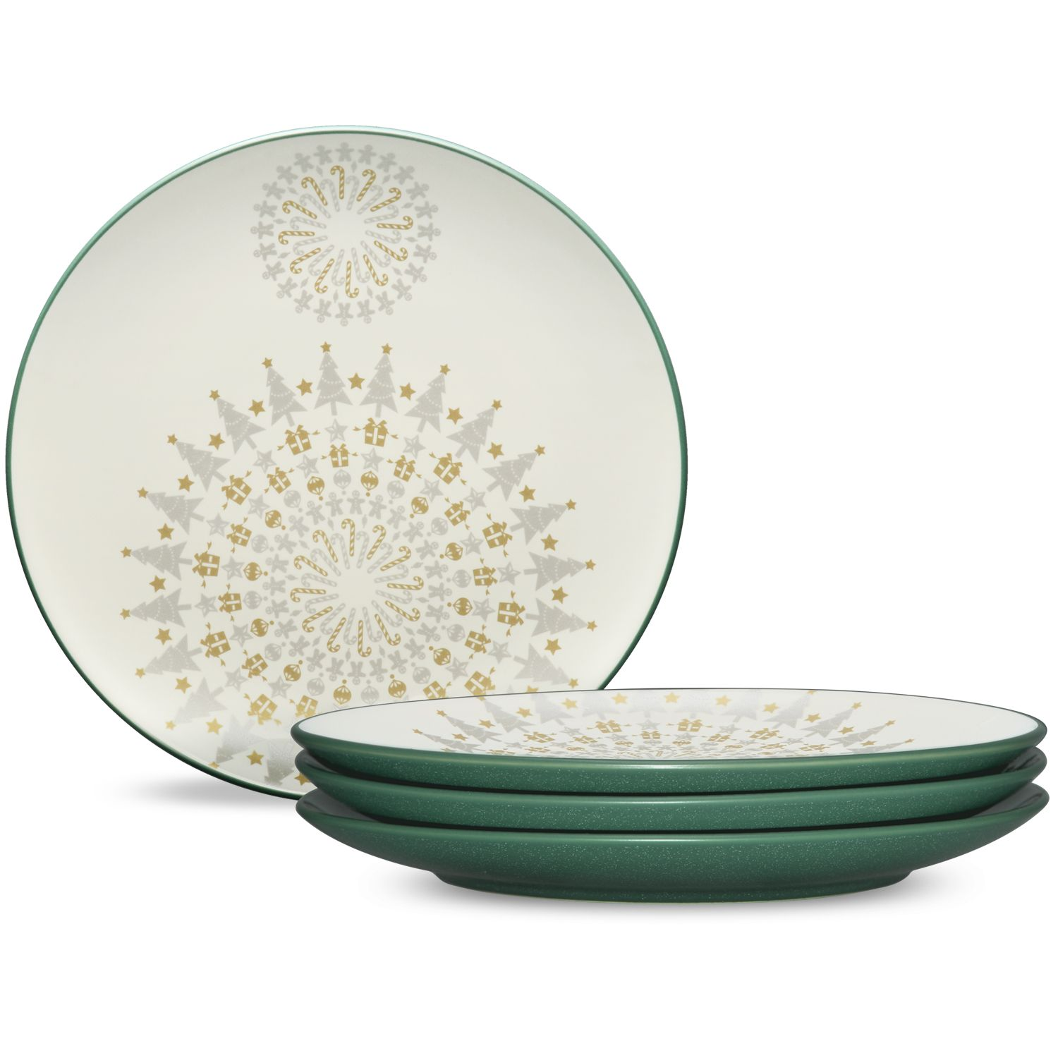 Colorwave Spruce Holiday Accent Plates. http://noritakechina.com ...