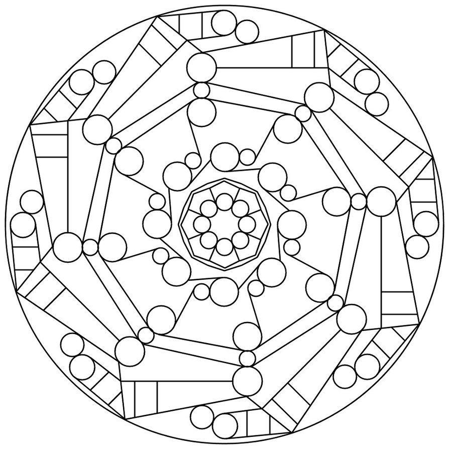Mandala 10 Geometric Coloring Pages Coloring Books Mandala Coloring