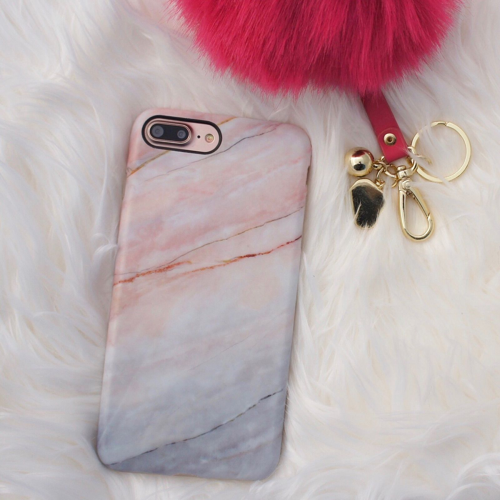 All Pink Everything: All Pink Everything Smoked Coral Marble Case For IPhone 7
