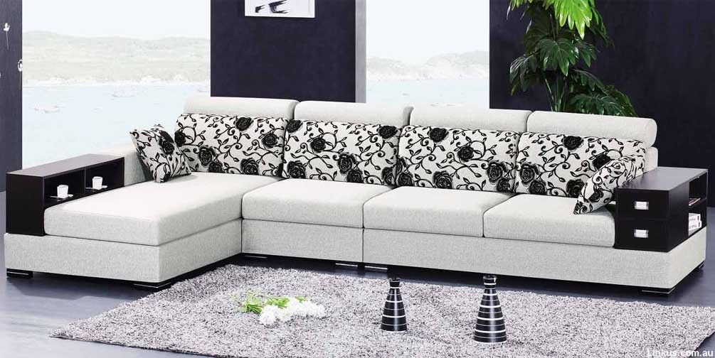 E Cheap Furniture Sydney Warehouse Online   L Shape Lounge 4 Seaters Chaise  Storage Display Unit