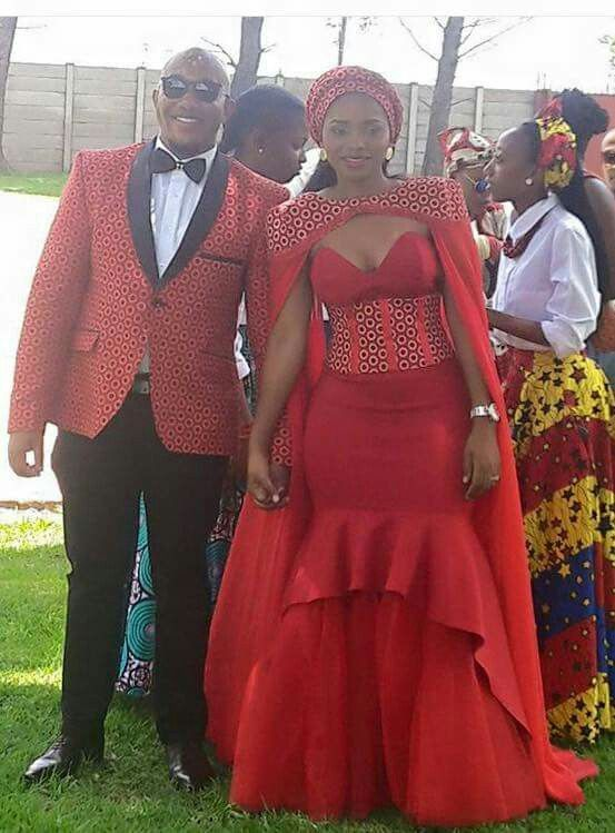 Can You Wear Red To A Wedding.Red For Love South African Print Fashion African Traditional