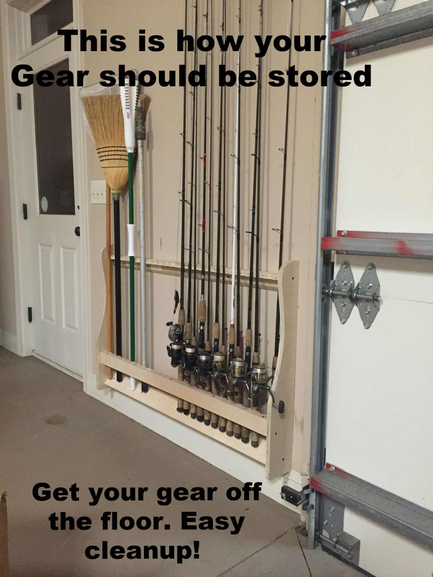 Vertical Wall Mounted Rod Rack Fishing Rod Rack Fishing Rod Storage Fishing Tackle Storage