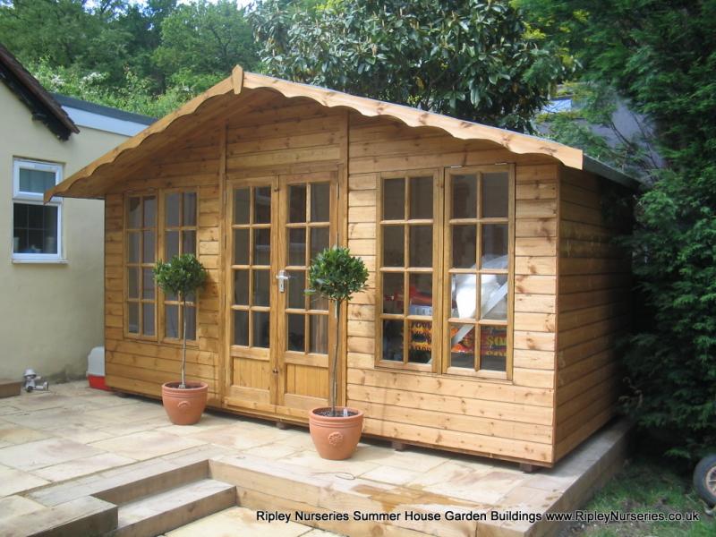Garden Sheds Ripley petersham summerhouse 14x7, all windows along front. | ripley