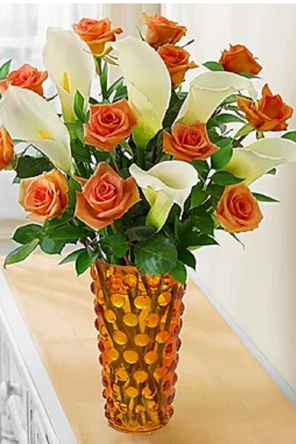 The Meanings of Orange Roses Calla lily bouquet, Flower