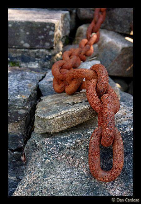 rusty chain - just found some at a garage salein LOVE! Rust