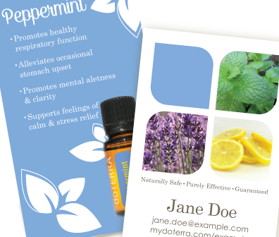 FourPhoto Sample Peppermint Doterra Business Card  Creative