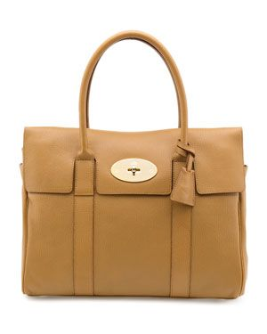 Mulberry 'Bayswater' Grainy Print Leather Satchel