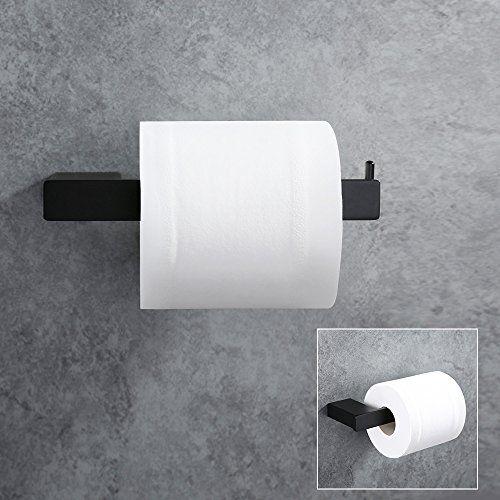 Homelody SS 304 Edelstahl Schwarz Beschichtet Lack Toilettenpapierhalter  WC Papierhalter Klopapierhalter Rollen Halter Toilettenpapierrollenhalter