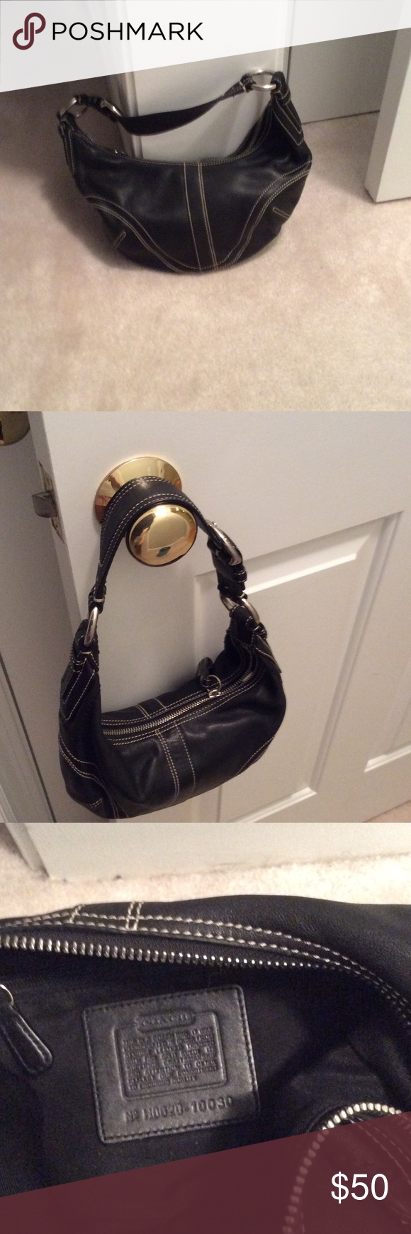 3817320b8b2 Authentic Coach Small Hobo Bag Authentic Coach Small, black hobo style bag.  Interior zip pocket, prefect for going out or daily use.
