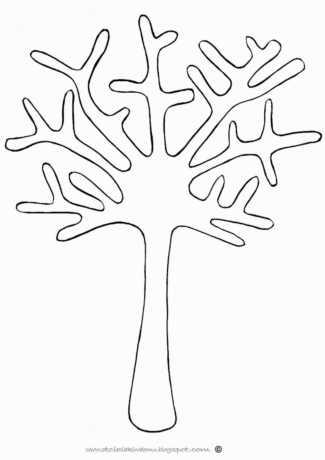 Jesienne Drzewa Ze Skorupek With Images Szablony Do Druku Szablony Drzewa