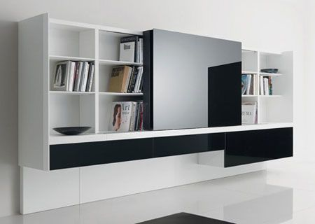 Bibliothèque design... | Salons, Bureaus and Living rooms