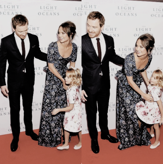 Michael Fassbender Alicia Vikander And Florence Clery On The Red Carpet For The Light Between Oceans Premiere Michael Fassbender Celebrities Alicia Vikander