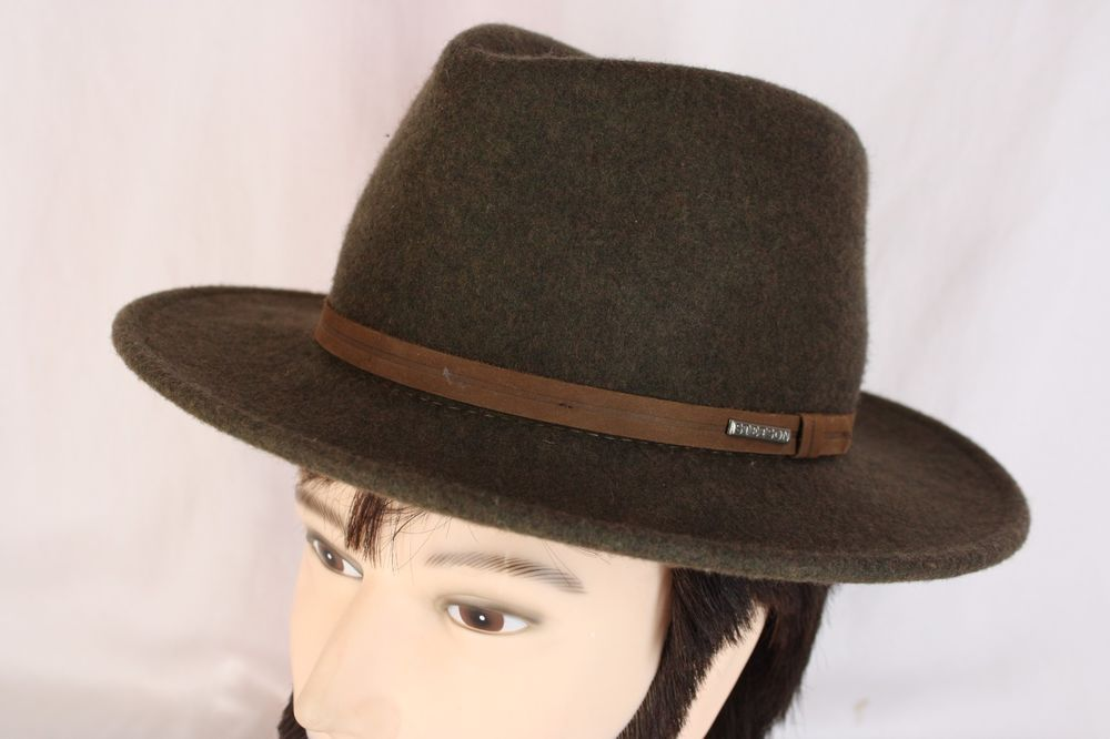 93793eaacc363 Mens Stetson Crushable 100% Wool Water Repellent Explorer Hat Brown Size  Med US  Stetson