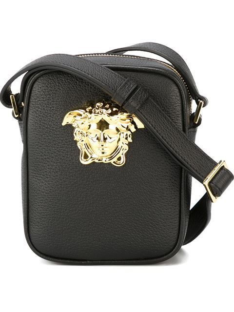 3b3d6d5530 Love this by VERSACE Black Small Medusa Messenger Bag -  901