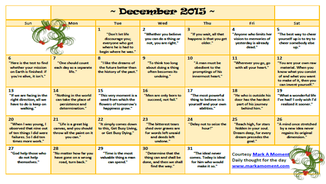 Monthly Calendar Quotations : Motivational quotes calendar monthly daily thoughts