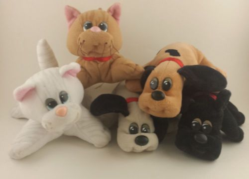 Lot of Pound Puppies and Purries Vintage Plush Stuffed