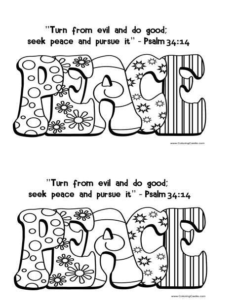 Fruits Of Spirit Peace Coloring Page Bible Coloring Pages Peace