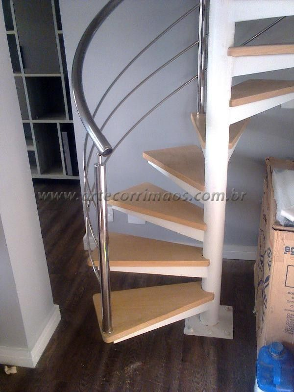Escada caracol concreto leroy merlin