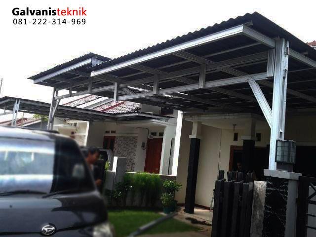 contoh atap baja ringan rumah minimalis kanopi saat ini banyak yang menggunakan rangka