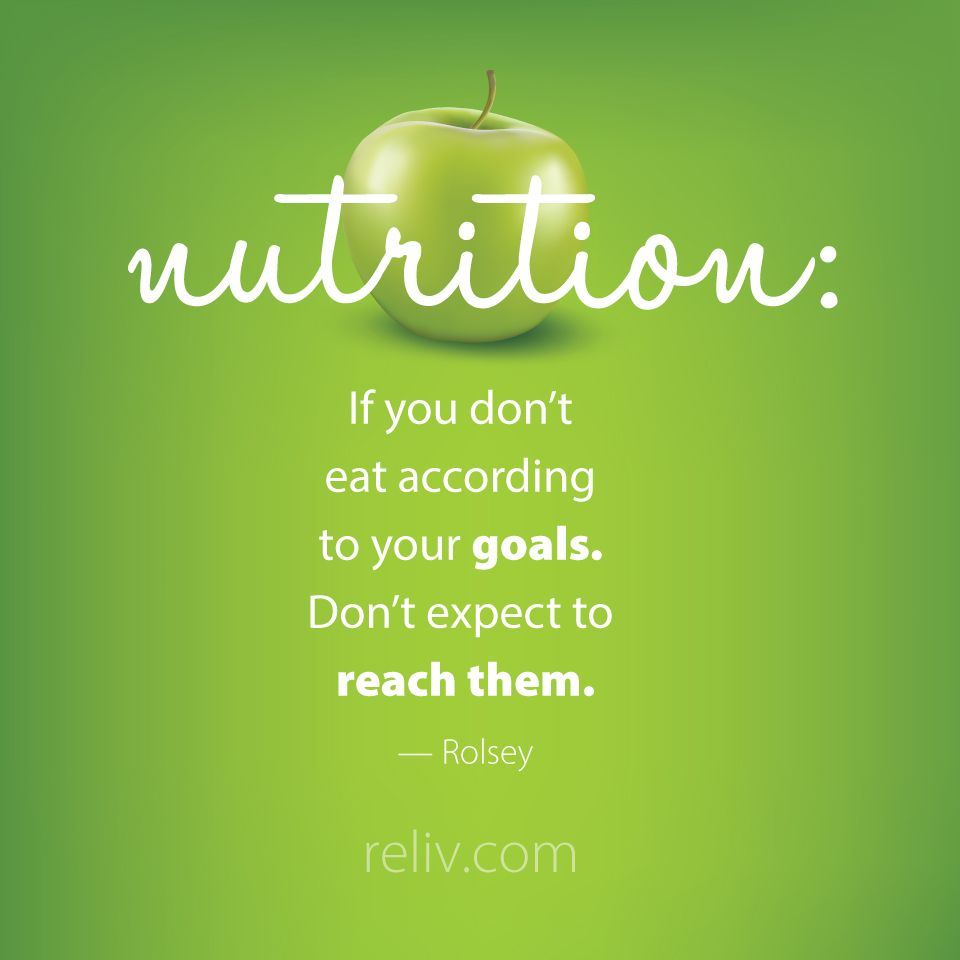 Nutrition If You Dont Eat According To Your Goals Don