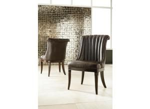American Drew Discontinued Bob Mackie Bonded Leather Side Chair