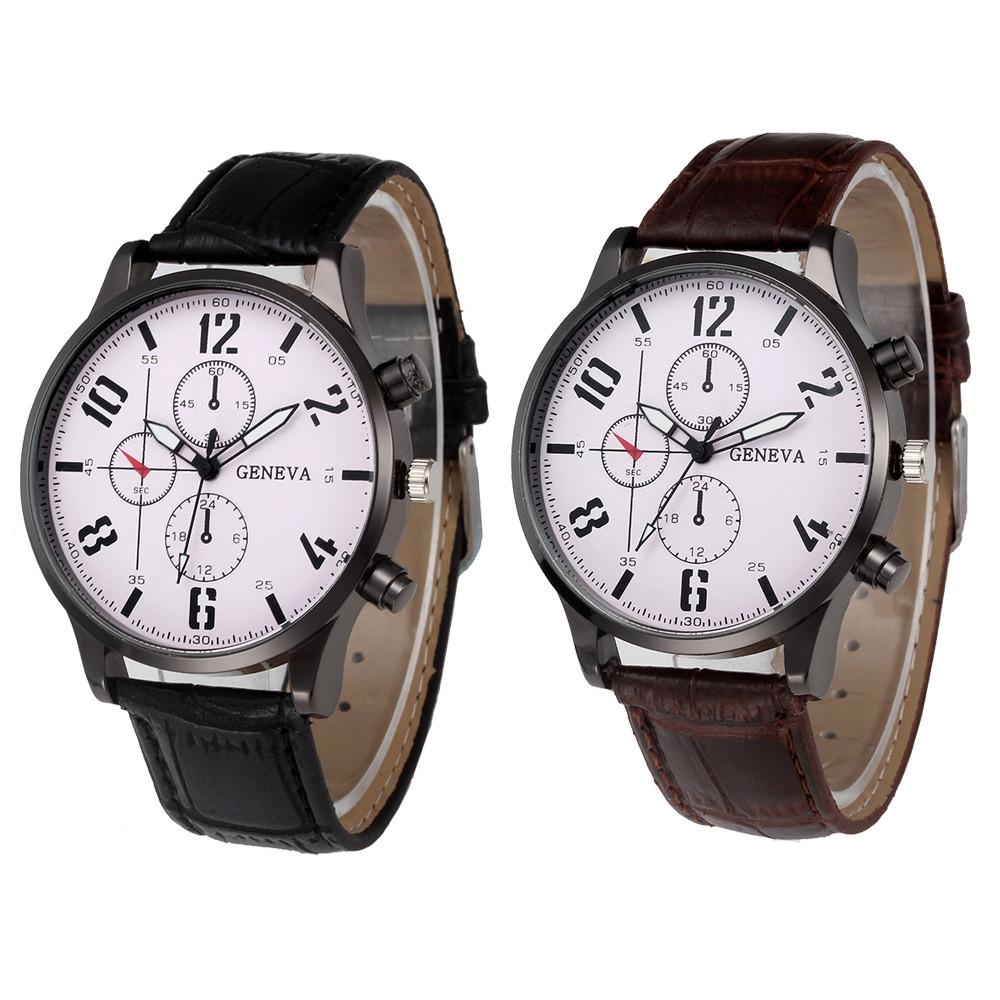 watch now gofuly luxury leather strap watch men fashion