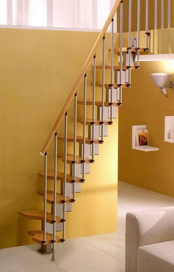 Best Gamia Mini Stair Natural Beech Treads Handrail Loft 400 x 300