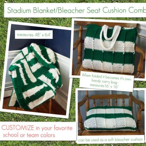 Stadium Blanket Amp Bleacher Seat Combo Crazy For Crochet