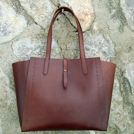Leather Tote Bag Brown Leather Handbag WomenLeather by ONIKIE