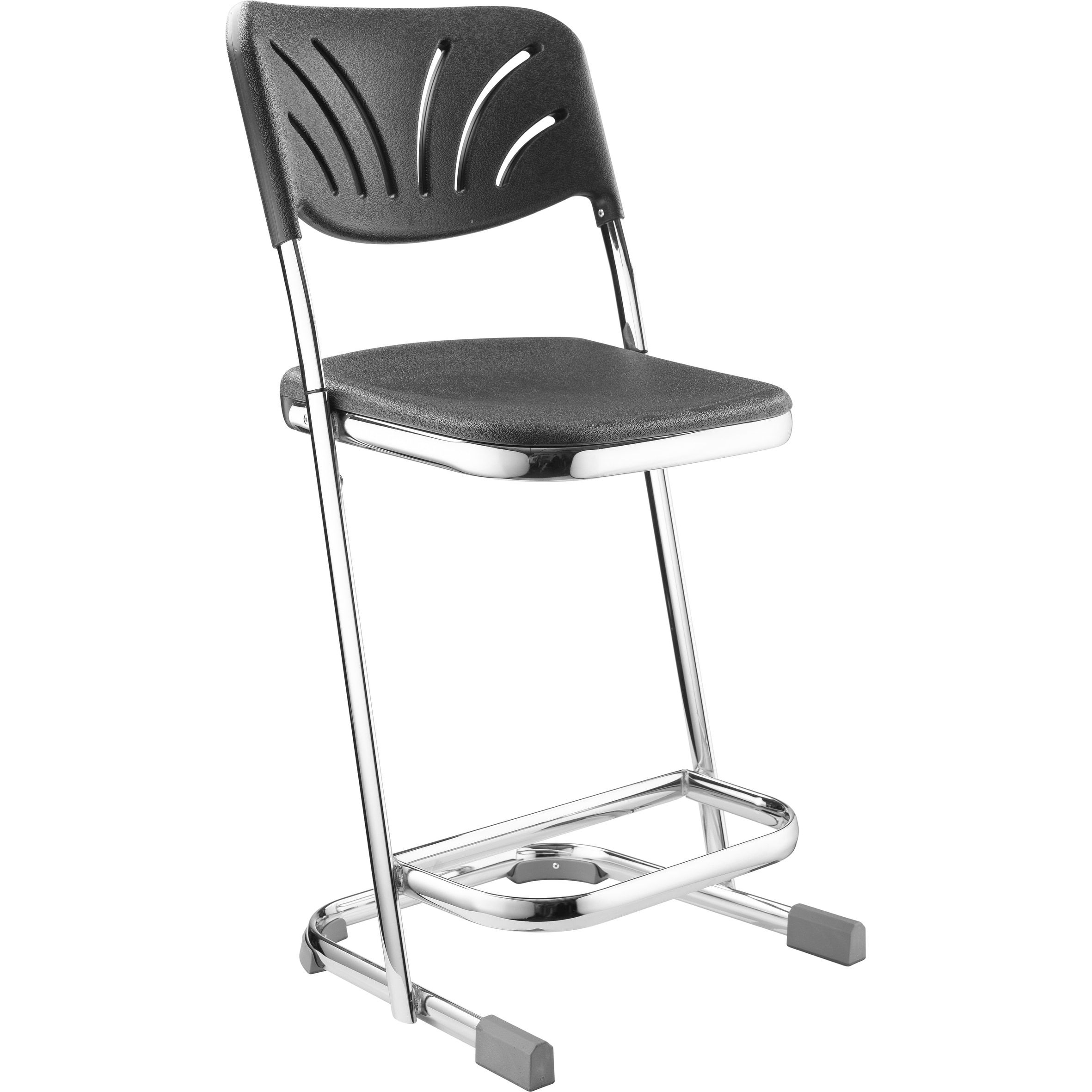 Nps 22 Inch Z Stool With Backrest 22 H Heavy Duty Stool W Fan Back Backrest Black National Public Seating Public Seating Industrial Dining Chairs Home Bar Furniture