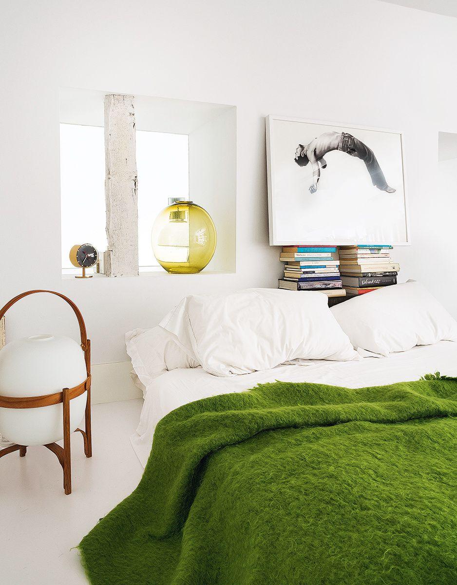 La Casa Del Artista David Rodríguez Caballero En Madrid Ideas De Dormitorio Verde Dormitorios Interior De Dormitorio