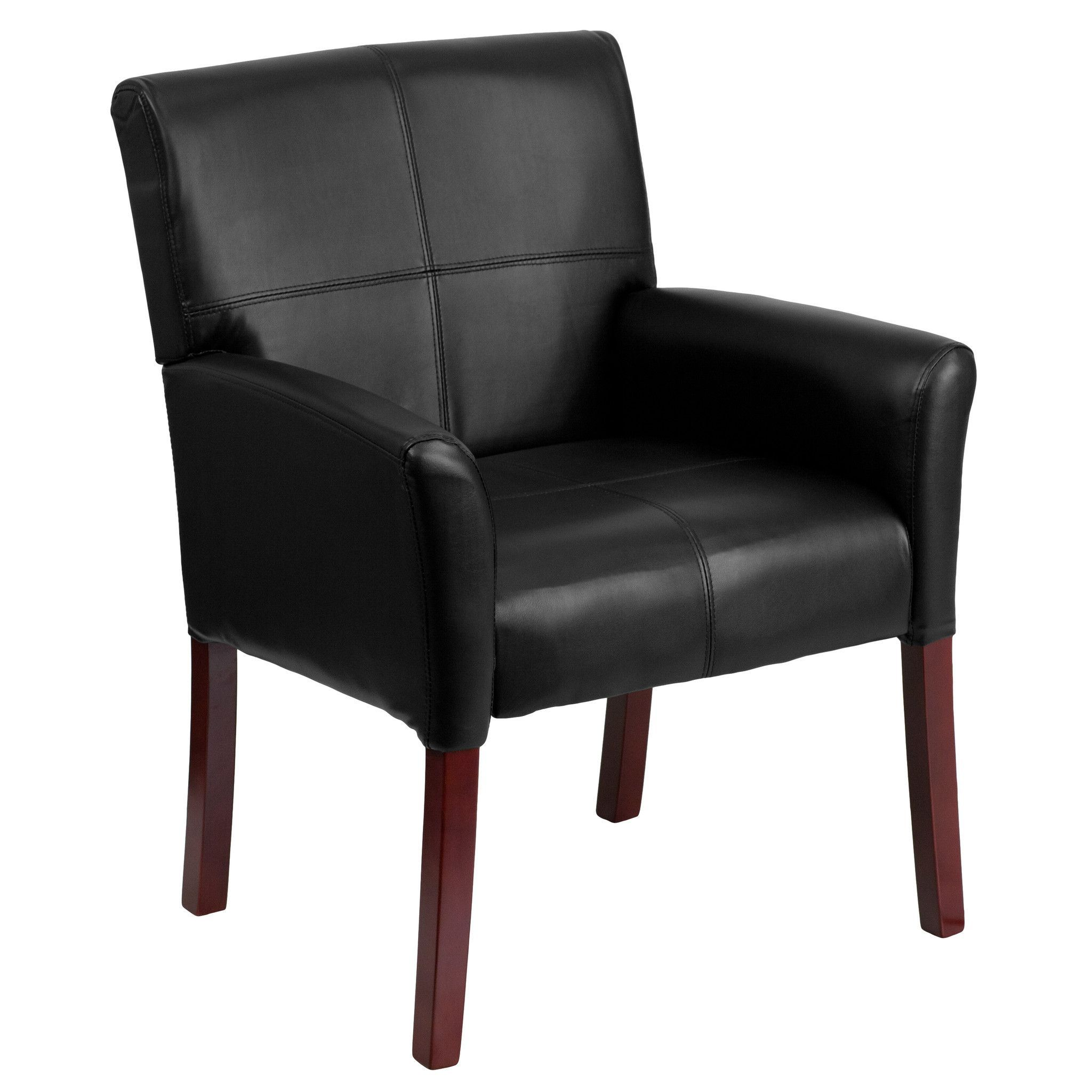 Flash furniture black leather executive side chair or
