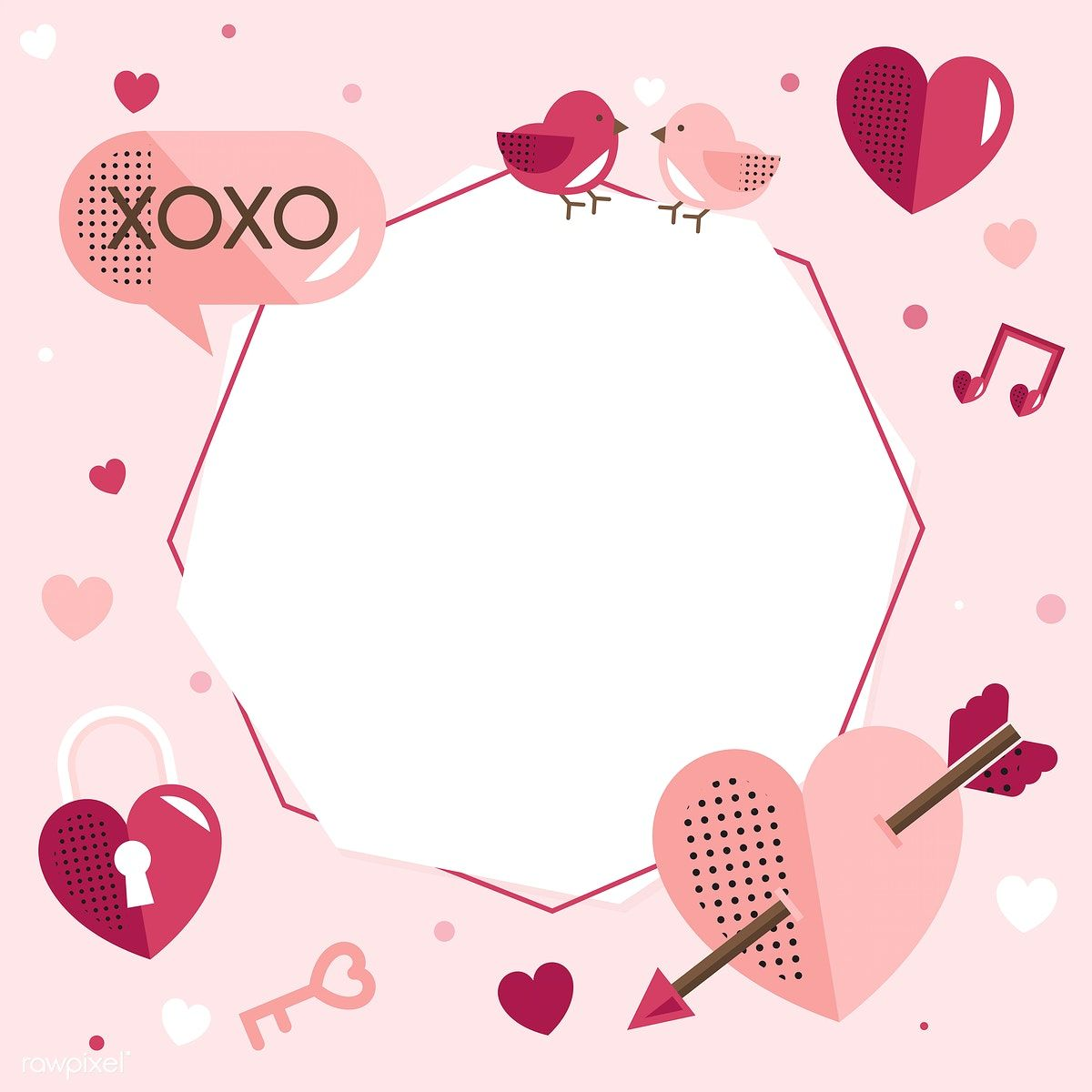 Valentine's Day blank background vector   free image by rawpixel.com / sasi