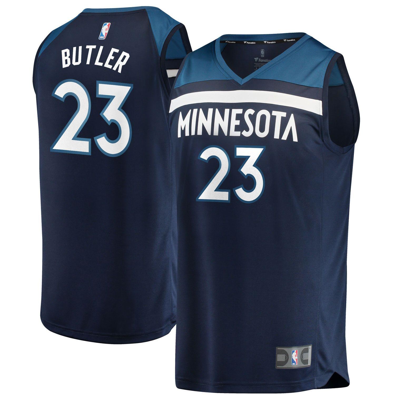 Youth Minnesota Timberwolves Jimmy Butler Fanatics Branded Navy Fast ...