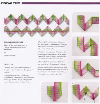 How to sew zig zag ribbon trim
