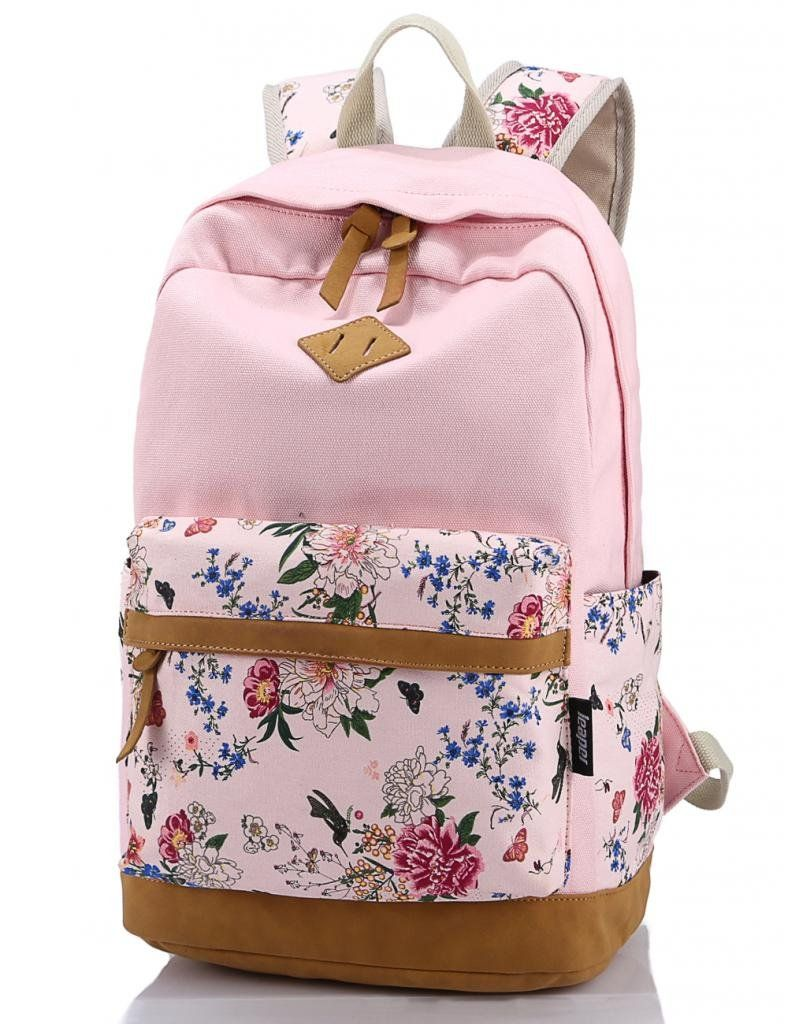 f590842e99 ... Canvas Laptop Backpack Cute Travel School College Shoulder  Bag Bookbags Daypack for Teenage Girls Students Women-With Laptop  Compartment Blue  Clothing