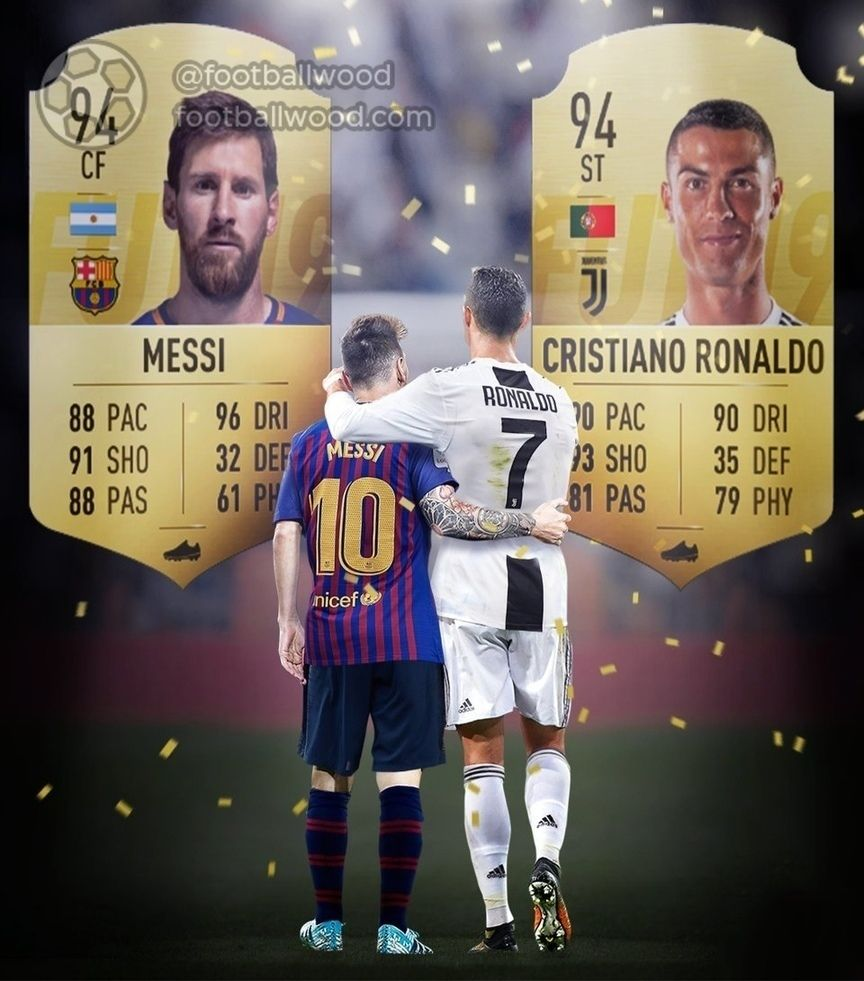 For The First Time Ronaldo And Messi Have The Same Rating