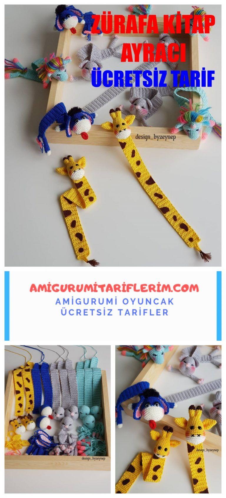 Amigurumi Zürafa Kitap Ayracı Yapımı, 2020 (Görüntüler ile ... | 1690x768