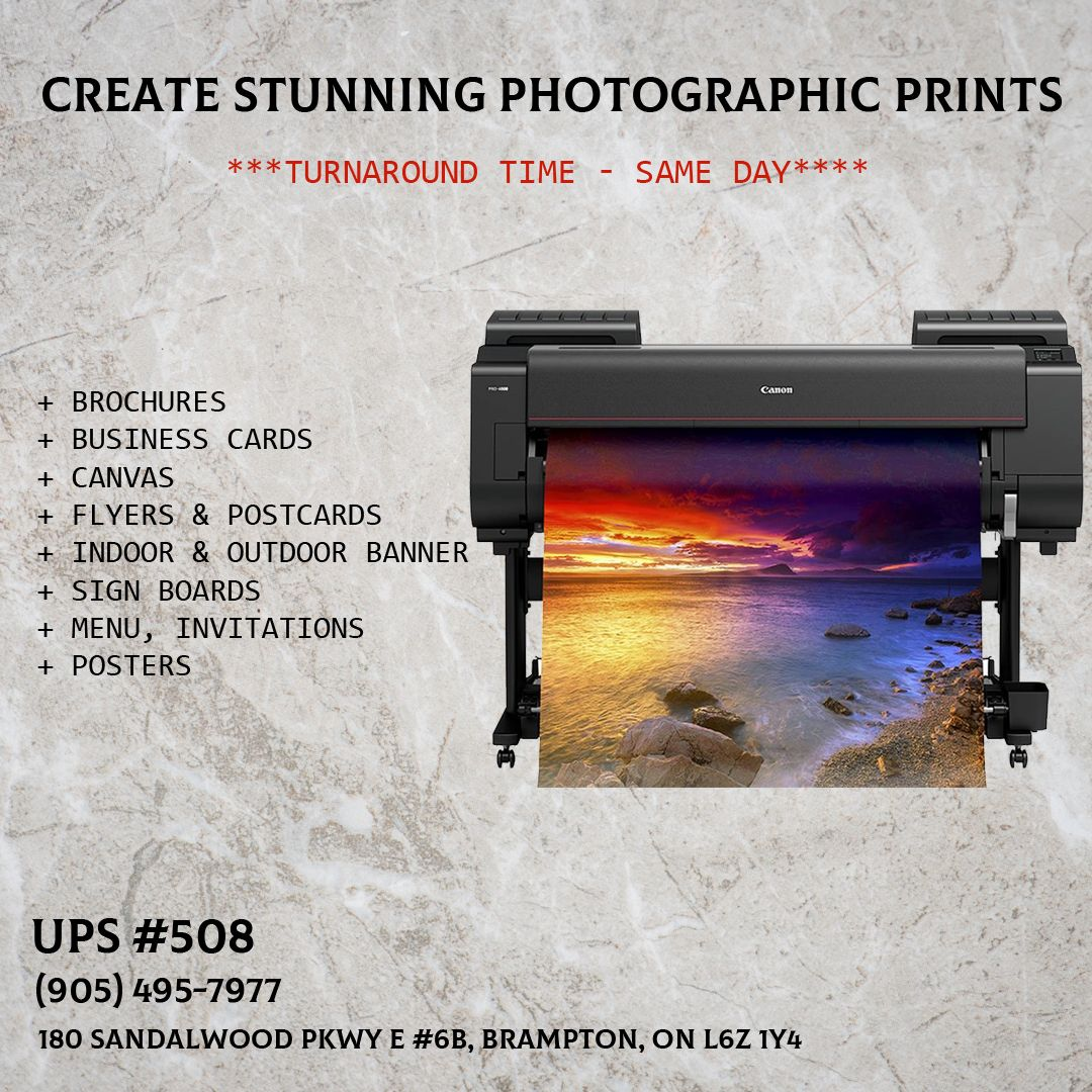 Create Stunning Photographic Prints With Professional Photographic Printer Turnaround Time Same Day Br Outdoor Banners Business Brochure Canvas Flyer