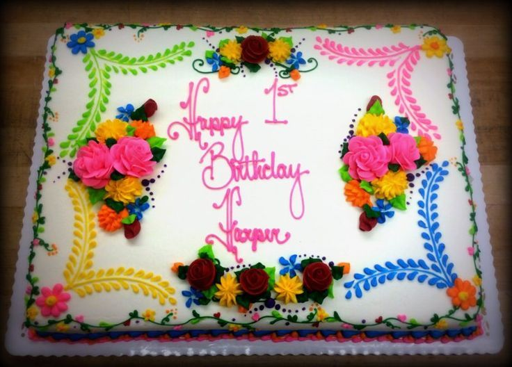 Image result for mexican themed cake Anniversary Sheet Cake