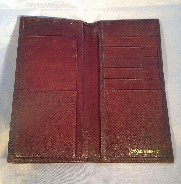 Yves Saint Laurent Wallet (Men's Pre-owned Vintage Bifold Brown Leather YSL  Designer Wallet