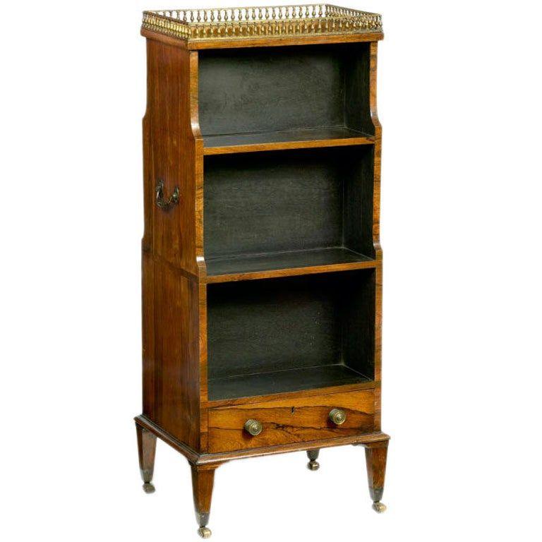 Dollhouse Miniature Furniture Decor Cabinet Shelves Bookcase Golden Patte,,