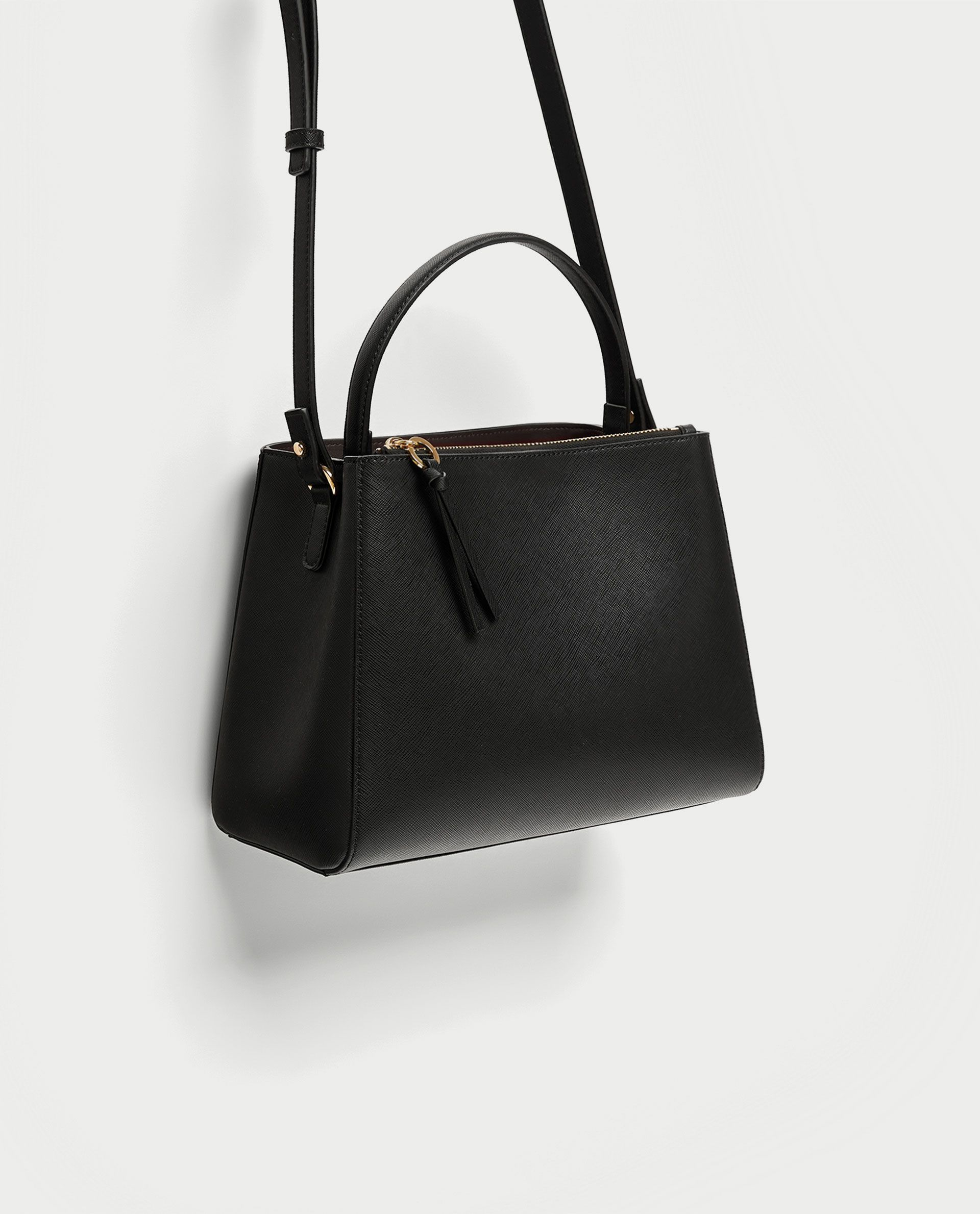 2f82b5aafa Image 3 of MEDIUM TOTE BAG WITH ZIP from Zara | accessories | Womens ...