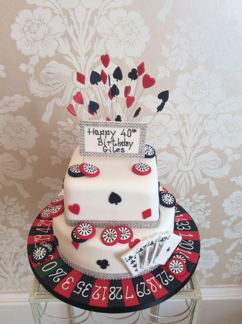 Las Vegas Themed Birthday Cake Novelty Cakes Pinterest