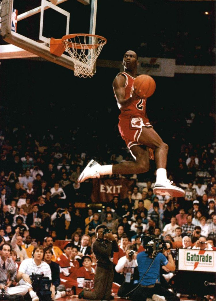 michael jordan 5 seconds in the air dunks