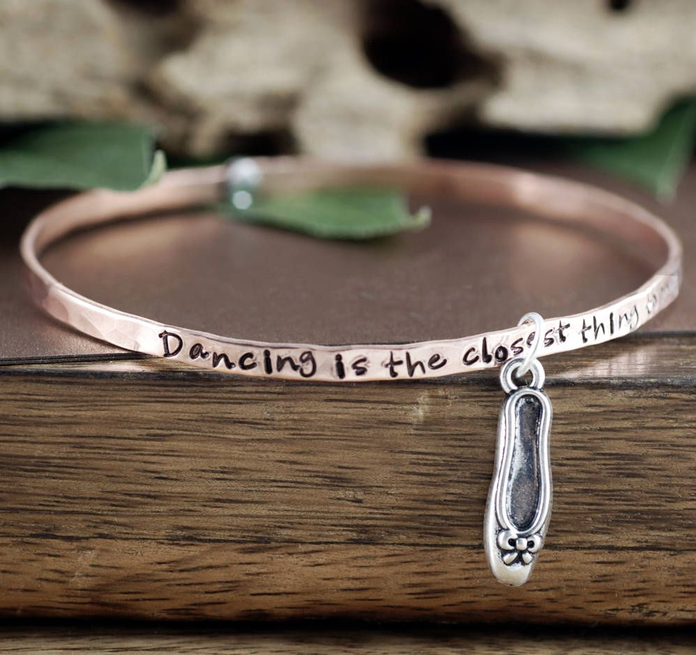 Dance Bangle Bracelet Dancing Is The Closest Thing To Magic Dancer Gift Jewelry Charm Teacher By Annierehjewelry On